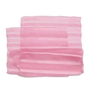 Polyester Schal in rosa mit Falten