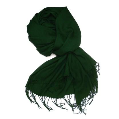 Pashmina Schal in waldgrün