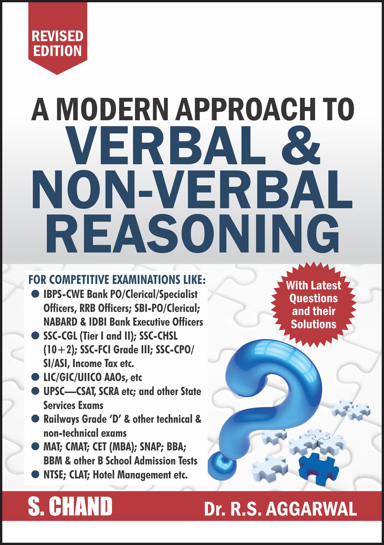 A Modern Approach To Verbal Amp Non Verbal Reasoning By R S