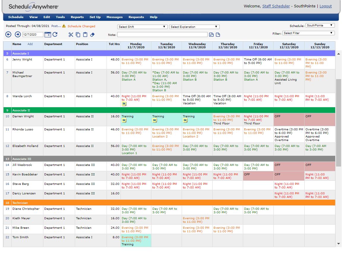 Easy Employee Scheduling Software