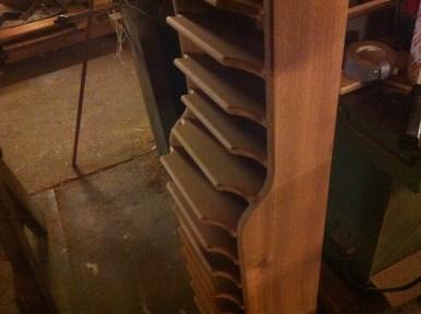 Folderkast van mahonie