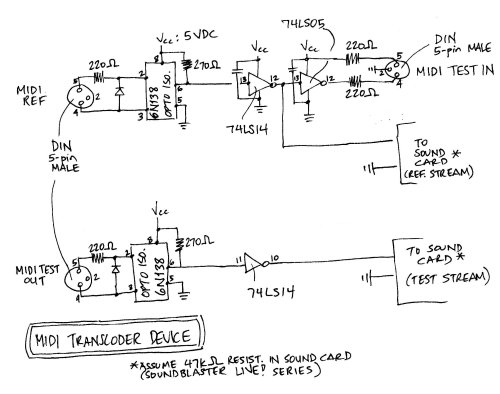 small resolution of midi transcoder schematics midi transcoder schematics