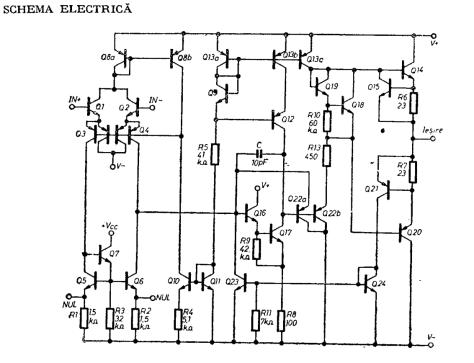 Schema-electrică-a-amplificatorului-operațional-cu-circuit-integrat-βA-741