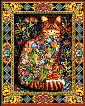 gatto a punto croce