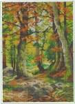 schema punto croce bosco con ruscello (1)