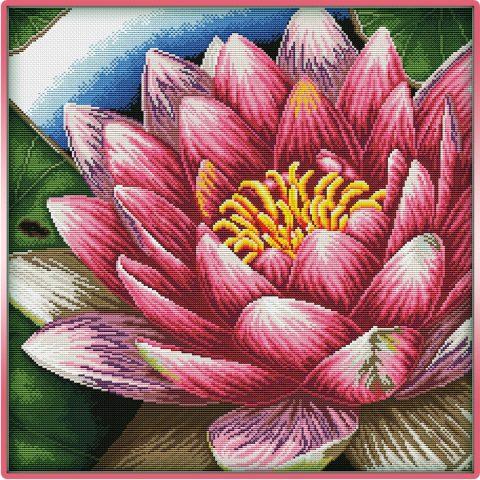 schema ricamo fior di loto