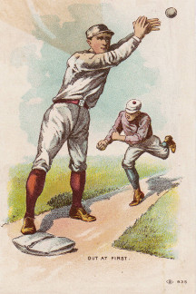 Sample baseball advertising trade card from Set H 804-18