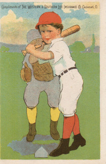 Sample baseball advertising trade card from Set H 804-20
