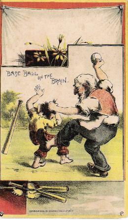 Sample baseball advertising trade card from Set H 804-25