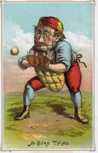 Sample baseball advertising trade card from Set H 804-26