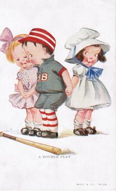 Sample baseball advertising trade card from Set H 804-27