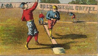 Sample baseball advertising trade card from Set H 804-33