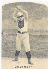 Sample baseball advertising trade card from Set H 804-39