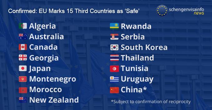 EU Marks 15 Third Countries as 'Safe'
