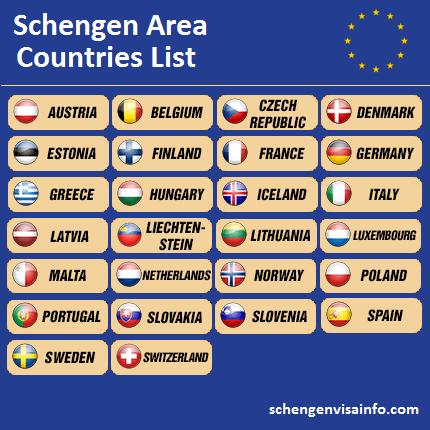 Schengen Area  Visa Information for Schengen Countries