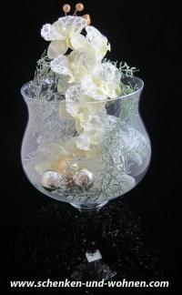 Deko - Glas weihnachtlich dekoriert ca. 50 x 26 cm (H/B ...