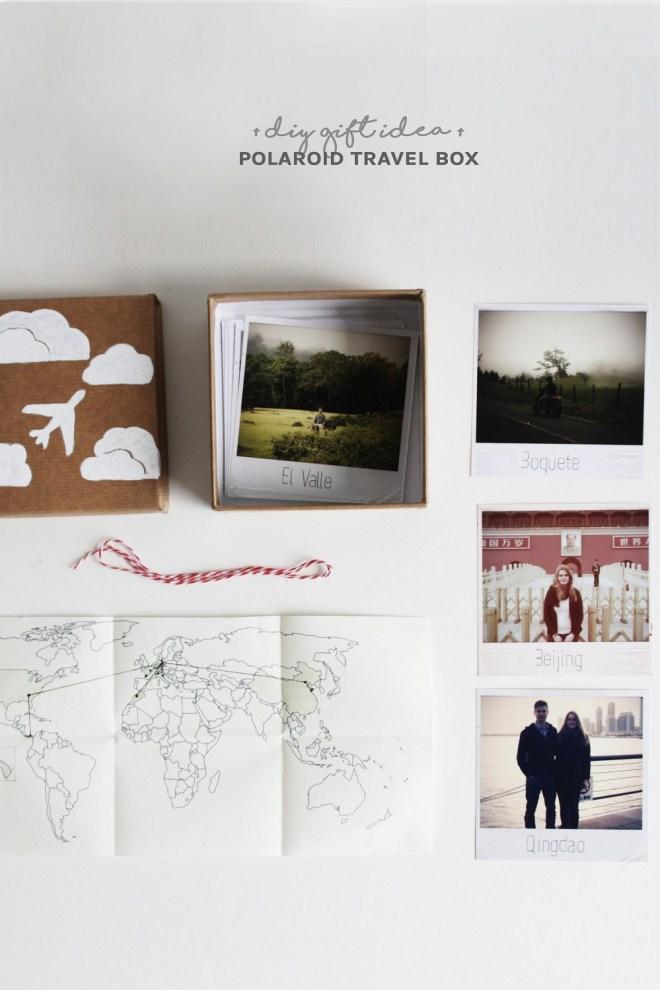 DIY Geschenk für Weltenbummler: Die Polaroid-Reise-Kiste ...
