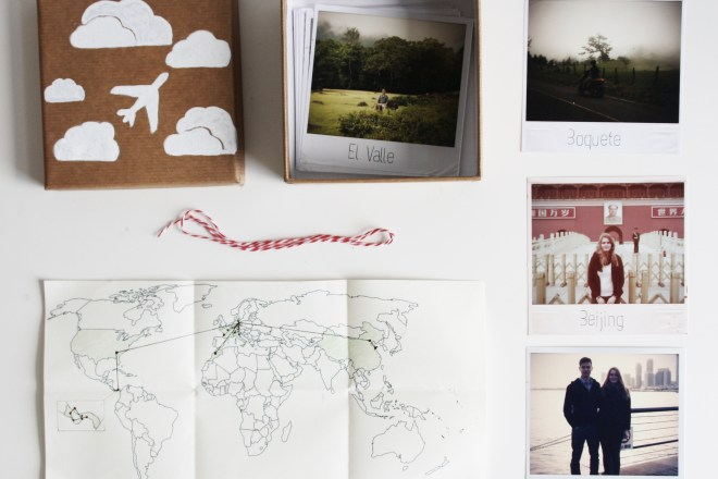 DIY Geschenk Polaroid Reise Kiste