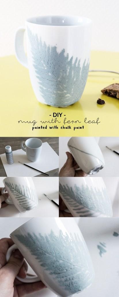 Pin DIY Farn-Tasse mit Kreidefarbe
