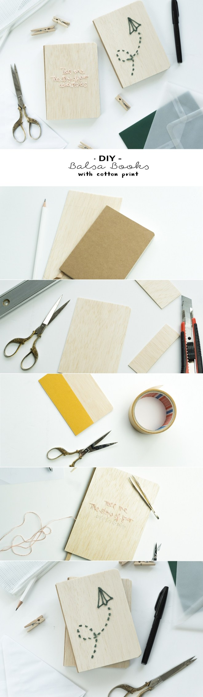 schereleimpapier DIY und Upcycling Blog aus Berlin - kreative Tutorials -DIY Balsa Holz Books