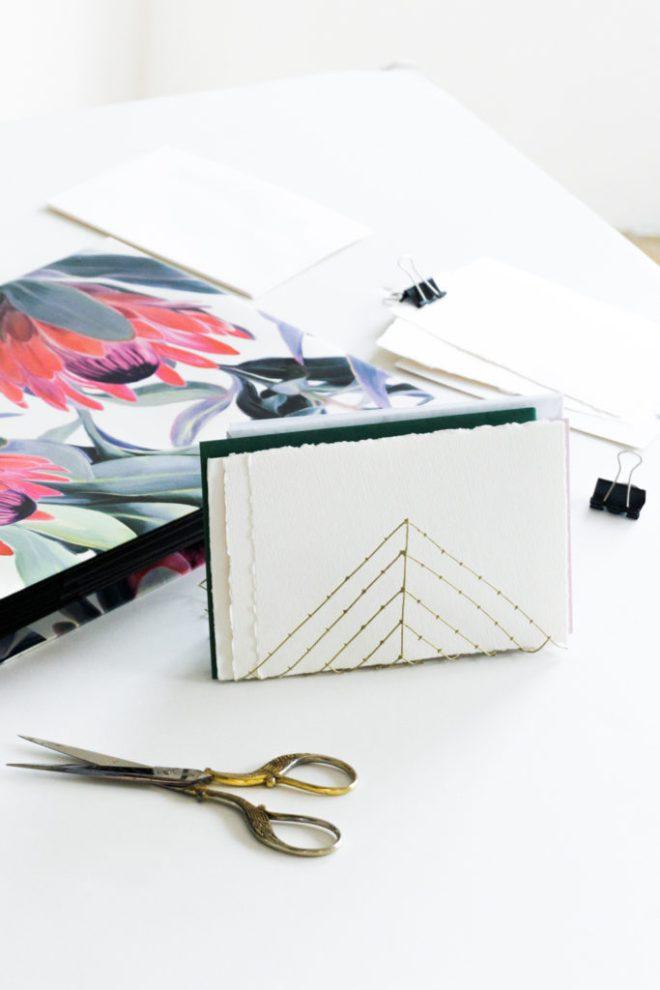schereleimpapier DIY Blog Berlin Briefhalter selber machen aus Draht und Organizer mit Protea Print basteln