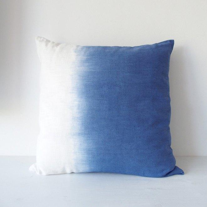 schereleimpapier Geschenke für Muttertag Kissenbezug mit Farbverlauf