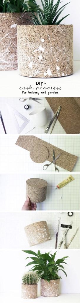 schereleimpapier DIY und Upcycling Blog aus Berlin - kreative Tutorials für Geschenke, Möbel und Deko zum Basteln – Kork Pflanztöpfe selber machen