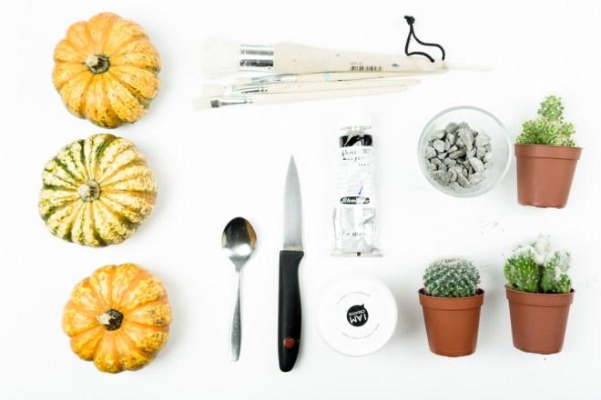 Halloween Deko basteln: Kürbis & Sukkulenten | schereleimpapier ...