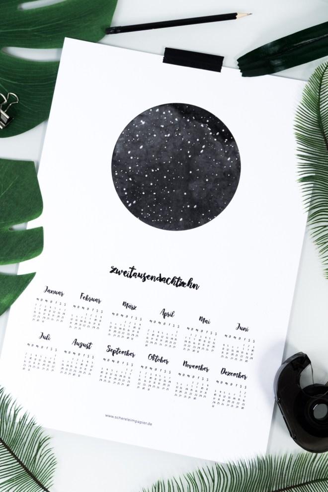 schereleimpapier DIY und Upcycling Blog aus Berlin - kreative Tutorials für Geschenke, Möbel und Deko zum Basteln -Freebie Kalender 2018 zum Ausdrucken