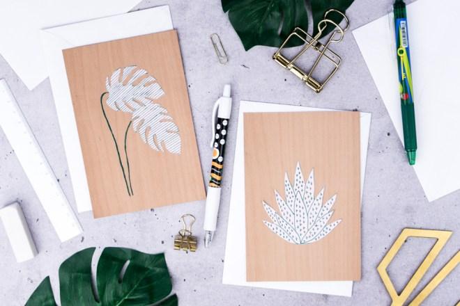 Botanische Jungle Karten selbst gestalten -schereleimpapier DIY und Upcycling Blog aus Berlin - kreative Tutorials für DIY Geschenke, DIY Möbel und DIY Deko zum Basteln