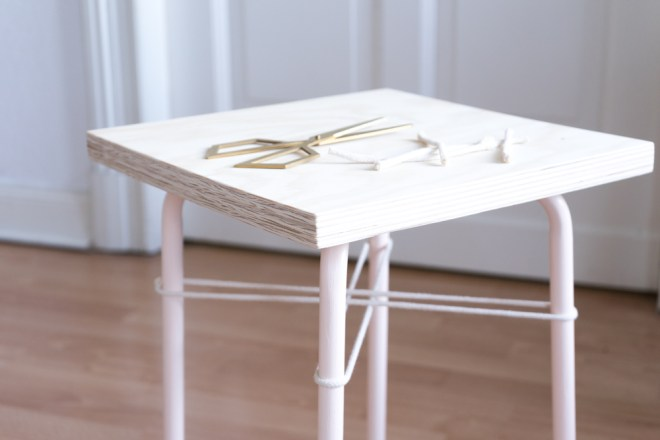 Easy IKEA Hack mit Hocker Marius: schereleimpapier DIY und Upcycling Blog aus Berlin - kreative Tutorials für DIY Geschenke, DIY Möbel und DIY Deko zum Basteln