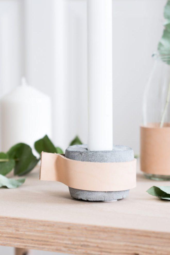 DIY Beton Kerzenständer selber machen - schereleimpapier DIY Blog kreative Tutorials für DIY Geschenke, DIY Möbel und DIY Deko zum Basteln