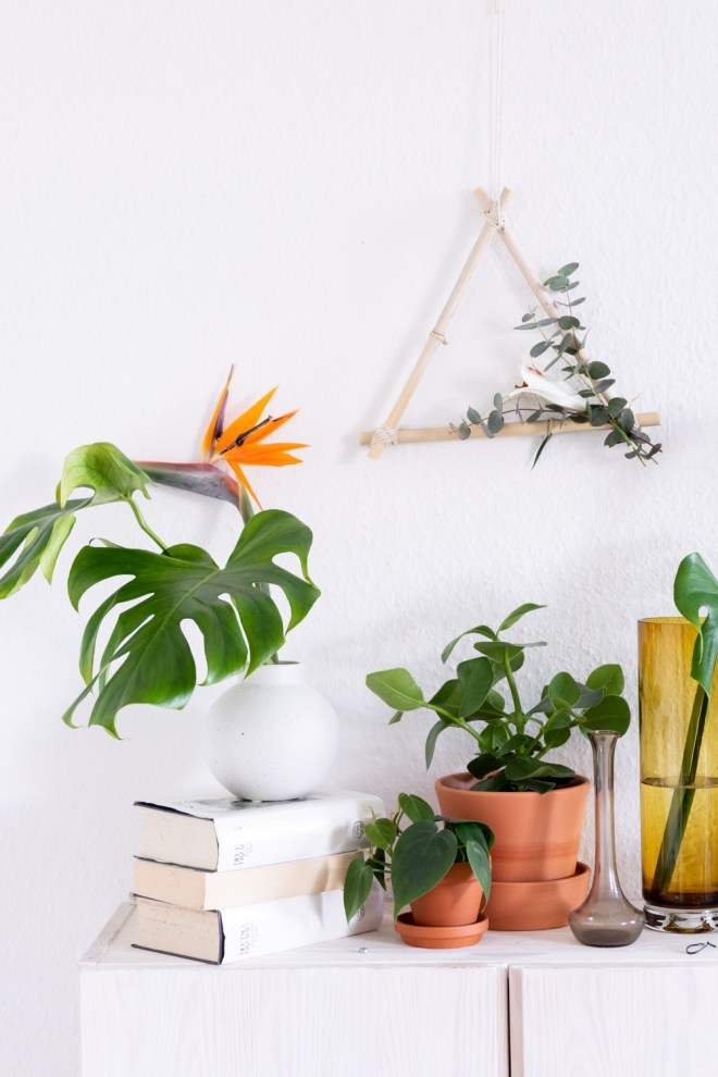 Deko basteln Kranz aus Bambus-schereleimpapier DIY und Upcycling Blog aus Berlin - kreative Tutorials für DIY Geschenke, DIY Möbel und DIY Deko zum Basteln