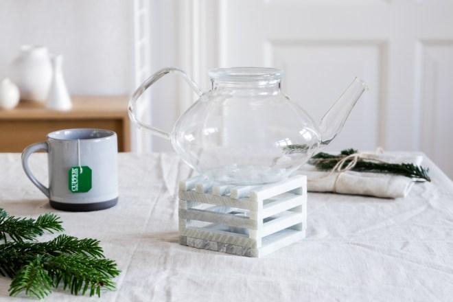 DIY Tee Geschenk selber machen Stövchen schereleimpapier kreative Tutorials für DIY Geschenke, DIY Möbel und DIY Deko zum Basteln