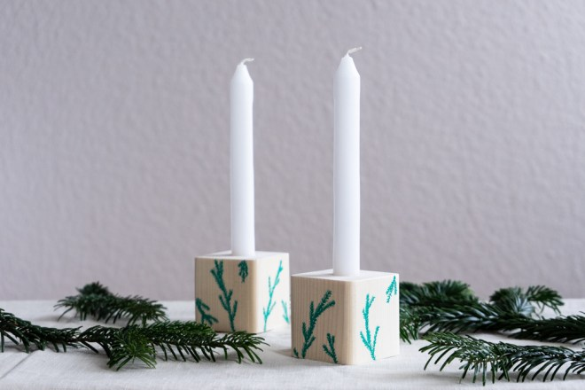 Kerzenhalter selber machen schereleimpapier kreative Tutorials für DIY Geschenke, DIY Möbel und DIY Deko zum Basteln