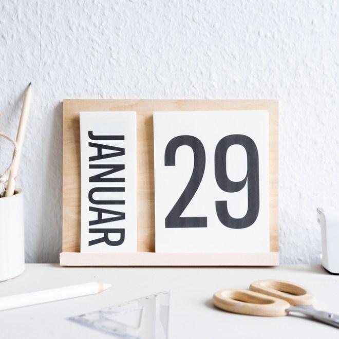 DIY Kalender 2020 zum Ausdrucken für den Tisch schereleimpapier kreative Tutorials für DIY Geschenke, DIY Möbel und DIY Deko zum Basteln