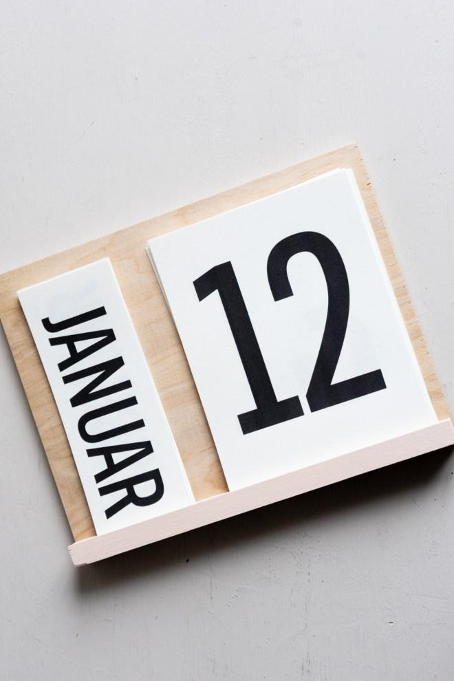 DIY Kalender 2020 schereleimpapier kreative Tutorials für DIY Geschenke, DIY Möbel und DIY Deko zum Basteln