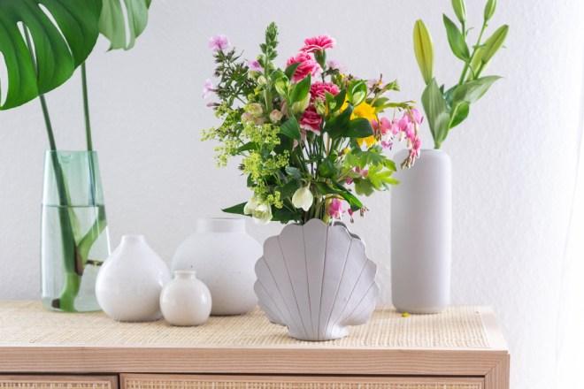 Töpfern DIY Muschel Vase schereleimpapier kreative Tutorials für DIY Geschenke, DIY Möbel und DIY Deko zum Basteln