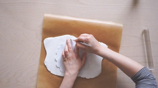 DIY Deko Muschel Vase