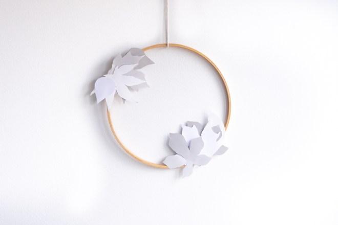 Herbstkranz selber machen schereleimpapier kreative Tutorials für DIY Geschenke, DIY Möbel und DIY Deko zum Basteln