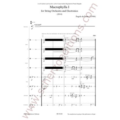 Macrophylla I for String Orchestra and Electronics (Full