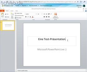 Microsoft PowerPoint Live (Vorschau)
