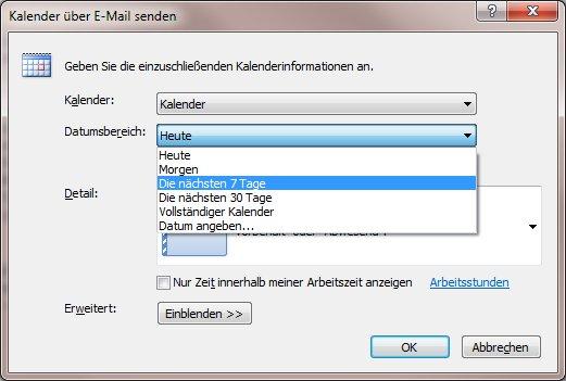 Microsoft Outlook Den Kalender Per Mail Verschicken Schiebde