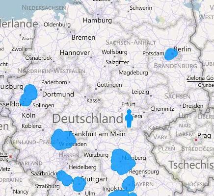 Bing Streetside: Verfügbarkeit Dezember 2011