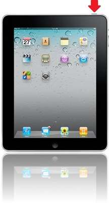 iPad: Sleep-Knopf an der Geräte-Oberkante