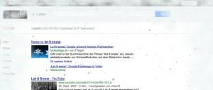 Let it snow: Google