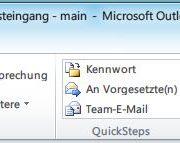Outlook 2010: Menüband