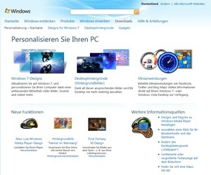 Windows-Website: Personalisieren Sie Ihren PC