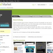 Android Market: Wikipedia-App