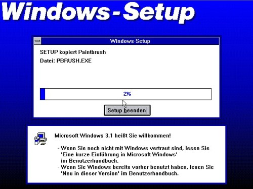 Windows 3.1-Setup